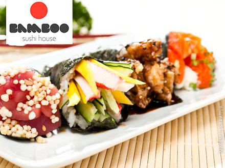 Festival de Temakis do Bamboo Sushi Bar! Temaki, de até 21,00 por apenas 9,99. Espete até 4 cupons por pessoa!