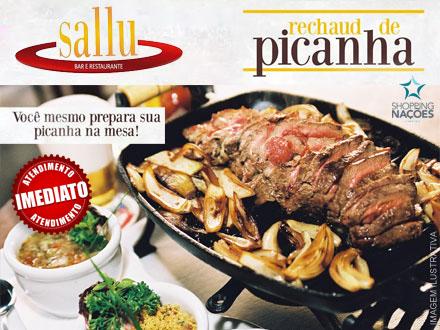Picanha + Acompanhamentos no Sallu Restaurante por apenas 39,99. Serve até 3 pessoas. Prepare a sua maneira direto no rechaud!!