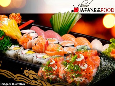 Combinado Especial com 38 peças + 2 Temakis + 6 Hot Rolls no Hard 3 Japanese Food, por apenas 49,90.
