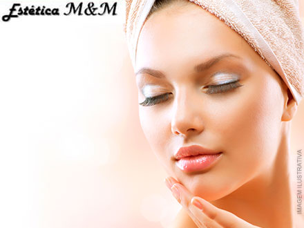 Higienização + Esfoliação + Peeling Químico + Máscara Nutritiva de Frutas na Estética M&M, por apenas 59,90.