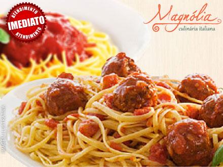 Escolha sua Massa + 8 Ingredientes + 1 Molho, de 16,90 por apenas 8,45! Pasta Magnólia - Do seu jeito!! Atendimento imediato!