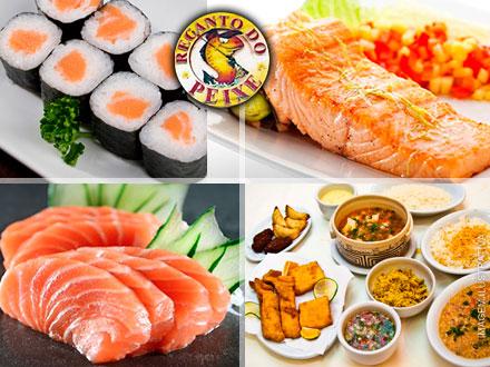 Jantar com Rodízio de Peixes para 2 ou 4 pessoas no Recanto do Peixe, a partir de 39,90.