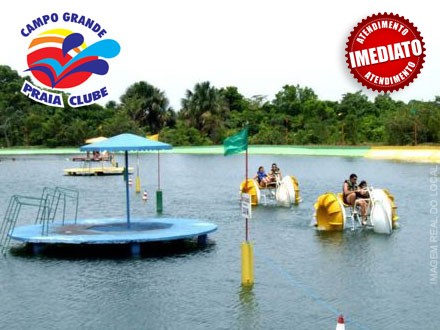 Está Calor!!! Day Use no Campo Grande Praia Clube, por apenas R$ 17,50. Atendimento imediato!