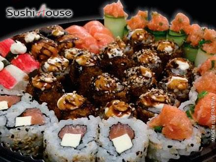 Combinado de Comida Japonesa com 52 Peças no Sushi House, por apenas 29,90.