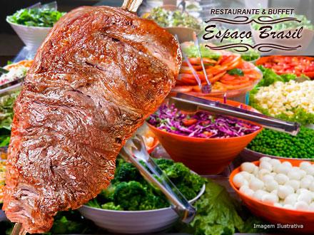 Almoço Self-Service Individual à Vontade com Churrasco + Mesa de Frios + Saladas no Restaurante Espaço Brasil, por 16,90.