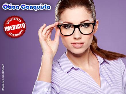 Crédito para a Compra de Óculos de Grau (Armação + Lente) ou Óculos de Sol na Ótica Conquista a partir de 9,00.