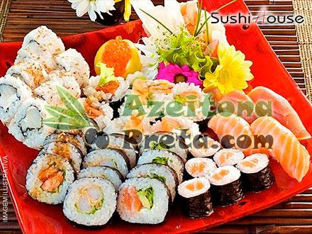 Sorteio Azeitona Preta: Combinado de 40 Peças do Sushi House. Serão 2 sorteados. Participe e boa sorte!
