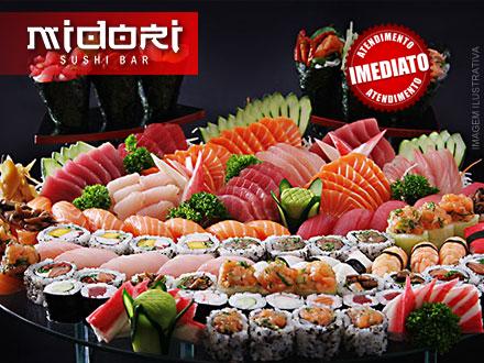Rodízio Simples Individual no Jantar no Novo Midori Sushi Bar, por apenas 22,90. Em novo endereço!