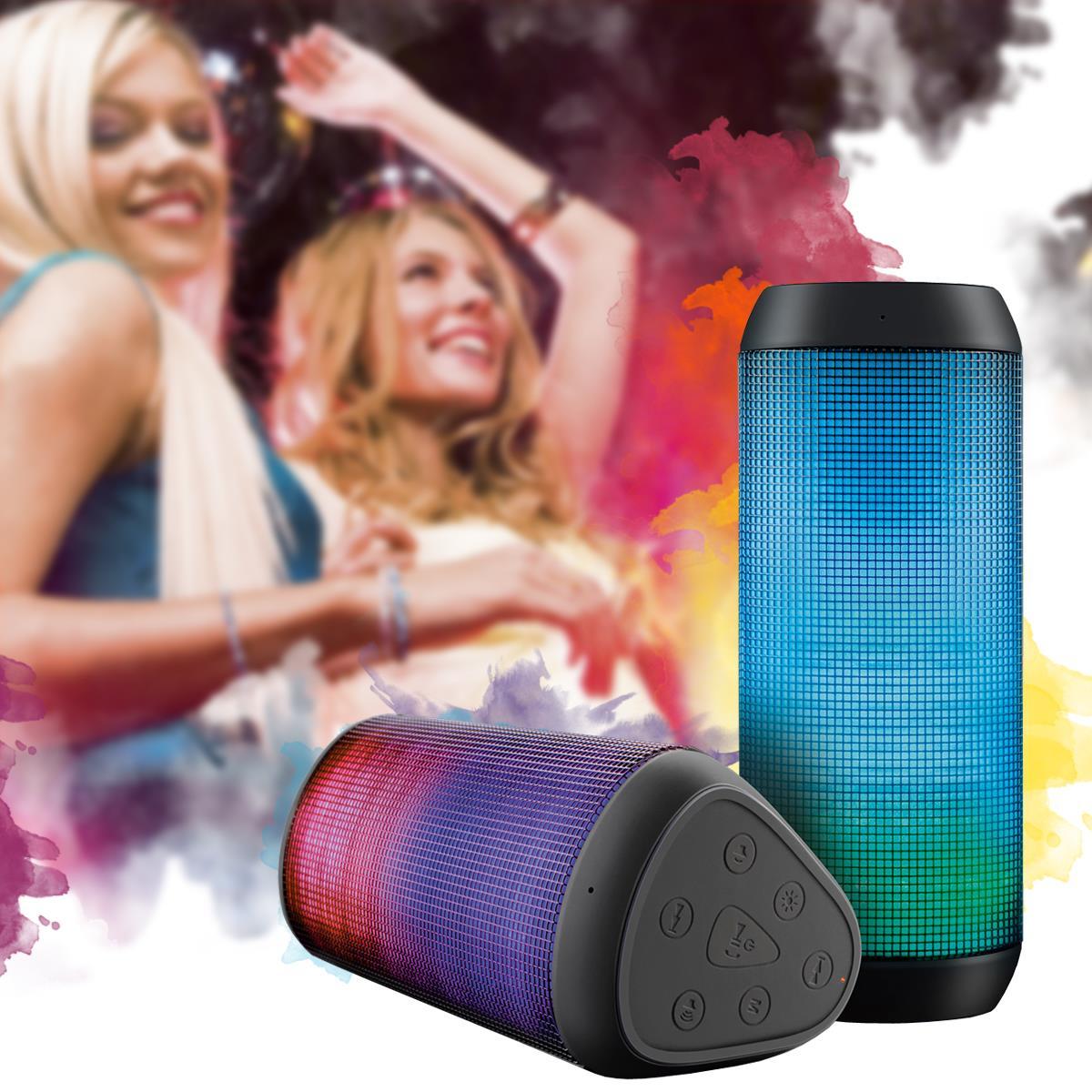 Caixa De Som Bluetooth Com Luzes de LED 15 W RMS SP 192 Multilaser - QE. De 549,90 por 479,90.