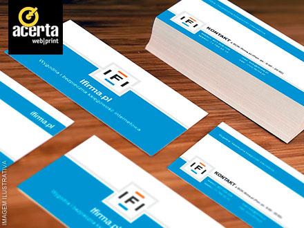 500 Cartões de Visita (400 Opções de Modelo a Disposição) na Acerta Web Print, por apenas 29,90.
