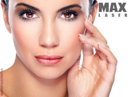 Radiofrequência Facial + Peeling de Diamante + Clareamento + Máscara de Vinho + Máscara de Vitamina C na Max Laser, por 39,00.