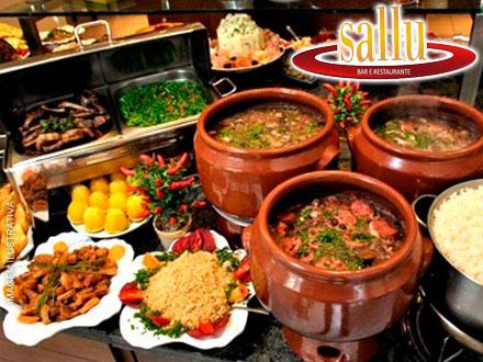 Almoço de Sábado: Buffet de Feijoada à Vontade, por 17,90 + Caipirinha em Dobro* no Sallu!