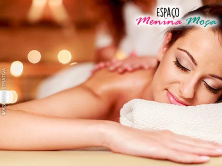 Sessão de Massagem Relaxante no Espaço Menina Moça, de 50,00 por apenas 12,90! Oferta Limitada!