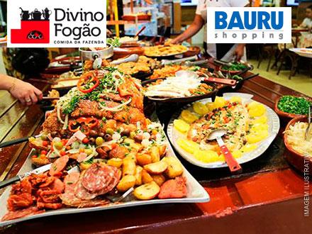 Bauru Shopping! Jantar Individual de Comida Mineira à Vontade no Divino Fogão, por apenas 19,99.