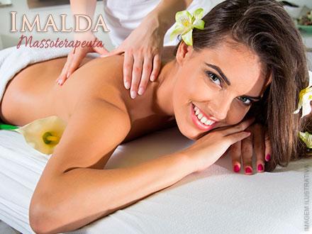 3 Sessões de Vibrocell + Bandagem Crioterápico + Manta + Massagem Modeladora + Drenagem Linfática na Imalda, de 240,00 por 39,90