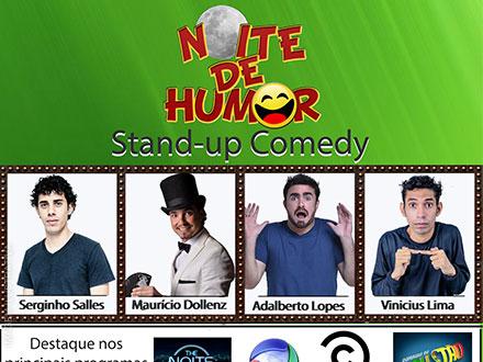 Noite de Humor com o Espetáculo ´Stand-up` no Teatro Cyrino Goulart. Ingresso de 50,00 por 19,00.