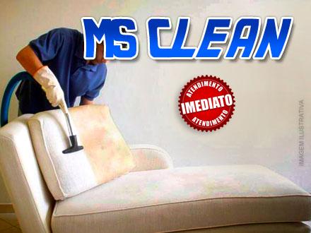 Está sujo? Lavagem de Estofados Convencional de 2 e 3 Lugares na MS Clean, de 280,00 por apenas 69,90.