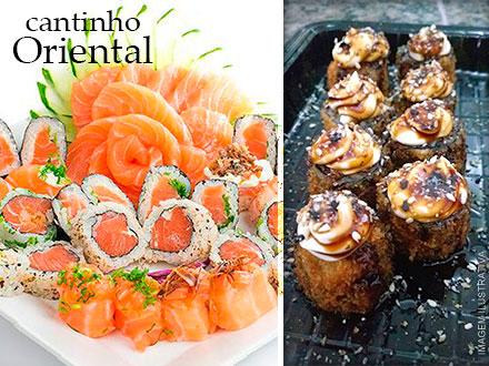 Cantinho Oriental!! Combinado do Chefe (30 Peças) + Porção de Hot Roll, por apenas 44,90.