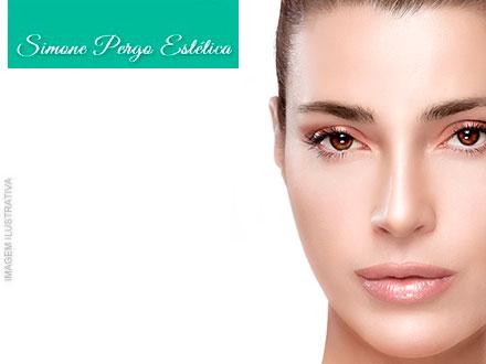 Limpeza de pele + peeling químico (em 2 sessões de 50 minutos) com Simone Pergo Estética de 150,00 por apenas 39,90.