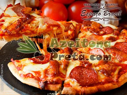 Sorteio Azeitona Preta: Rodízio de Pizzas no Restaurante & Buffet Espaço Brasil. Serão 3 sorteados!