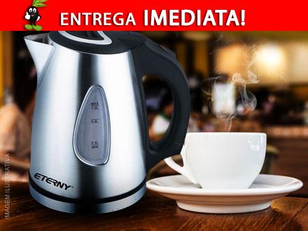 Muita praticidade para preparar o seu chá! Jarra Elétrica Eterny, de 189,00 por 110,90. Frete já incluso!