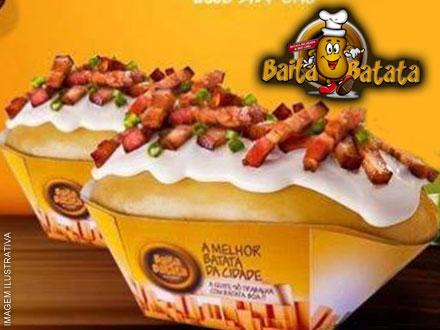 Festival do Bacon no Baita Batata!! Escolha 1 entre 4 Sabores Super Recheados, de até 22,90 por apenas 12,90.