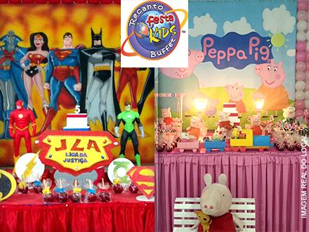 Festa Infantil de Sexta a Domingo com Buffet (Até 30 Crianças e 10 Adultos) no Recanto Festa Kids: 1.699,99.