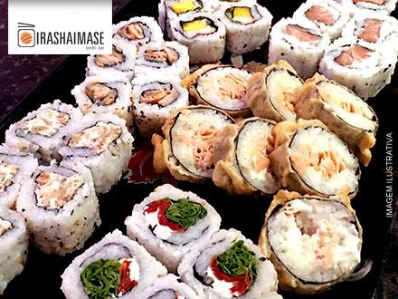 Prepare o seu hashi!!! 30 peças de Sushi no Irashaimase Sushi Bar por apenas 29,90