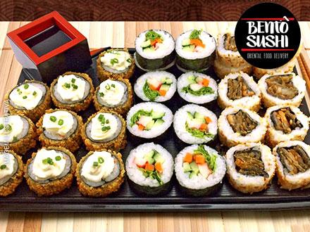 Combinado Especial com 30 Peças do Bentô Sushi, por apenas 31,90. Você vai se surpreender com a qualidade e o sabor!!