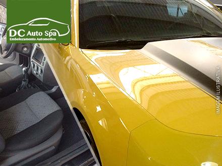 Polimento + Cristalização + Lavagem Externa e Interna + Lavagem e Higienização de Bancos de Tecidos no DC Auto SPA: 99,99.
