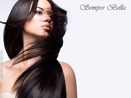 Seus cabelos com o liso ideal! Escova Progressiva da Secret Hair na Sempre Bella, por apenas 59,00.