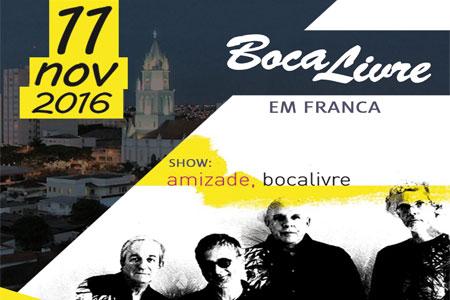 Show com Grupo Boca Livre em Franca-SP no Clube de Campo. Ingresso de 60,00 por apenas 39,99.