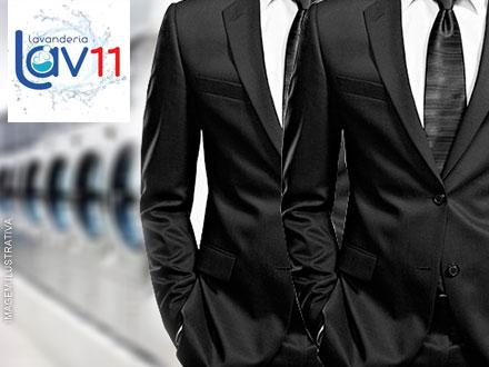 Seu terno como novo! Lavagem de Terno na Lavanderia Lav 11, de até 45,00 por apenas 19,90.