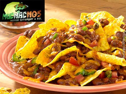 Arriba, arriba muchachos! Taco (5 Opções) ou Nachos (3 Opções) no Muchachos: 22,00. Serve até 2 pessoas! Atendimento imediato!