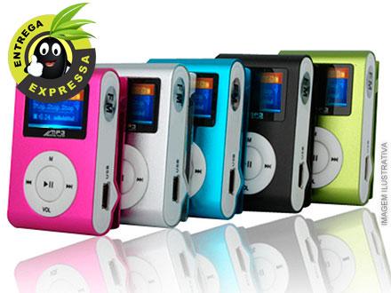Mini Mp3 Player Shuffle Clip Fm + Cabo Usb + Fone com frete incluso R$ 29,90.