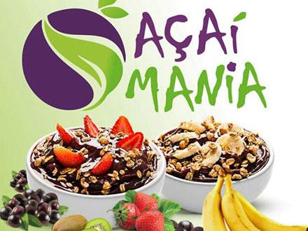 Escolha: Açaí ou Cupuaçu (300ml) com 1 Fruta + 2 Acompanhamentos da Açaí Mania, por apenas R$ 8,00.