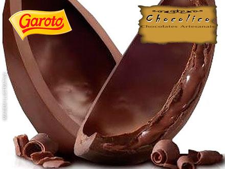 Ovos de Páscoa Recheado ou Tradicional de 500g da Chocolico Chocolates Artesanais. A partir de 24,99.