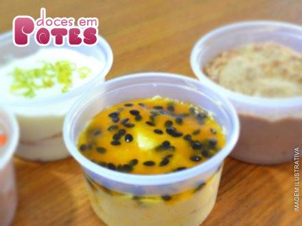 Um doce de oferta! 4 Potes de Mousse (3 Opções de Sabor) da Doces em Pote, de 24,00 por apenas 15,60.