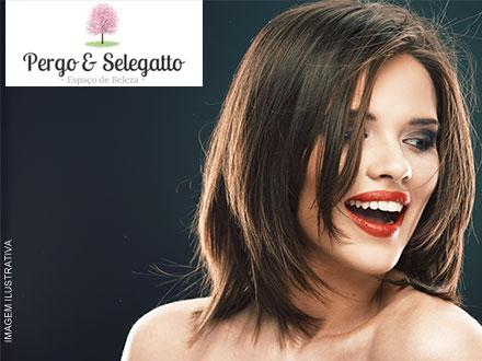Hidratação + Escova (Para cabelos curtos a médios) no Espaço Pergo & Selegatto, de 120,00 por apenas 29,90.