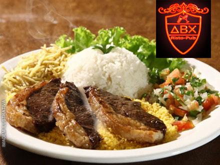 Almoço Executivo no ABX Ristô Pub! Escolha seu Prato (3 Opções), de até 21,90 por a partir de 12,90.