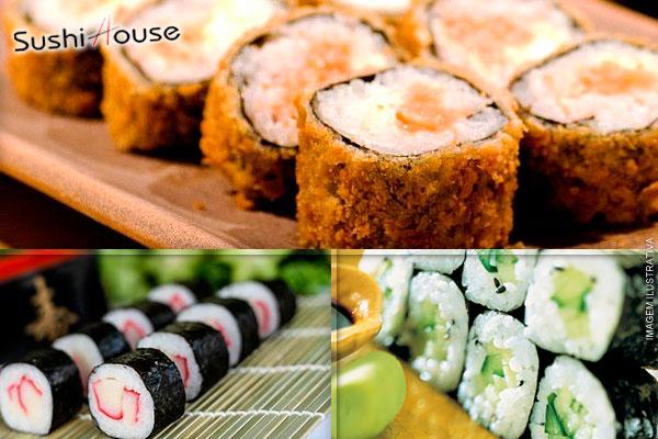Combo Imperdível do Sushi House: 26 Sushis e Hot Rolls, de 34,00 por apenas 9,99.