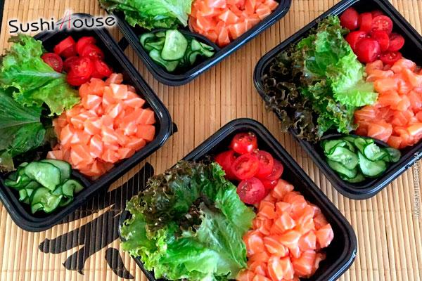 Oferta imperdível!!! Salada de Salmão do Sushi House, de 24,90 por apenas 9,99.