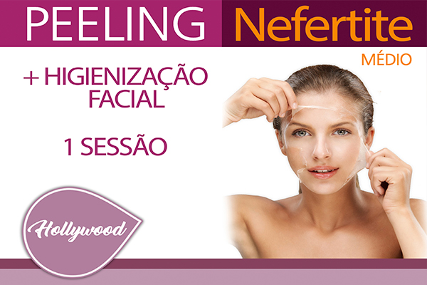 Sessão de Peeling Nefertite Médio + Higienização Facial na Estética Hollywood, por apenas 99,00.