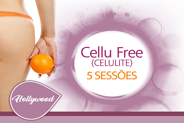 5 Sessões para Tratar a Celulite - Cellu Free na Estética Hollywood by Dr Rey, por apenas R$ 350,00