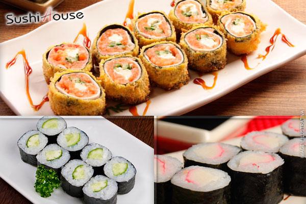 Nova Loja Sushi House Estação: Combinado Japonês com 40 Peças Variadas, por apenas 19,90.