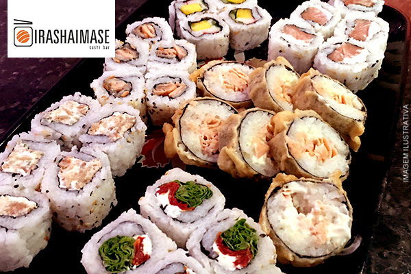 Prepare o seu hashi!!! 30 peças de Sushi no Irashaimase Sushi Bar por apenas 29,90. Atendimento imediato!