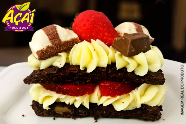 Novidade deliciosa e surreal: Lasanha de Brownie Kinder no Açaí Full Body, por apenas 10,79. Atendimento imediato!