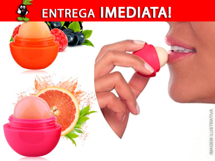 Hidratante Labial 100% Natural. 1 ou 2 Unidades! Escolha seu sabor preferido a partir de 28,90. Frete Incluso!