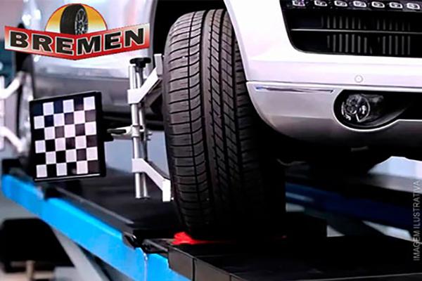 1 Alinhamento 3D + 4 Balanceamentos na Bremen Pneus, por apenas 34,99. Válido para todos os veículos*! Cupons limitados!